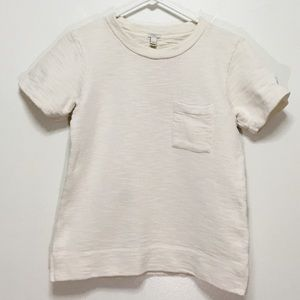 J. Crew Cream Short Sleeve Terrycloth Sweater